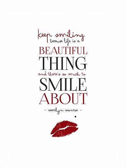 Marilyn Monroe Smile Quote Notonthehighstreet Hammond Leonora