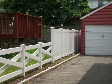 vinyl fence designs fence products catalog nj