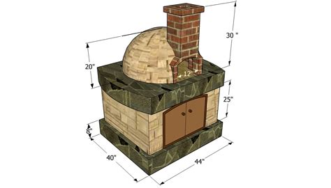 wood brick oven design pizza oven free plans