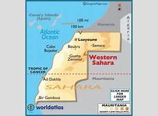 Western Sahara Map Geography of Western Sahara Map of