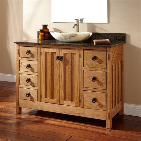 bathroom vanities with vessel sinks 48 quot mission hardwood 7 drawer vessel sink vanity bathroom