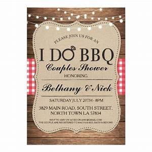 i do bbq couples showers rustic lights invite zazzle With who do you invite to a couples wedding shower