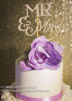 Beautiful and elegant wedding cake topper MR & MRS cake