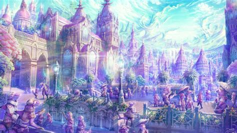 Artistic Anime Wallpaper - anime artistic cities soft castles landscapes