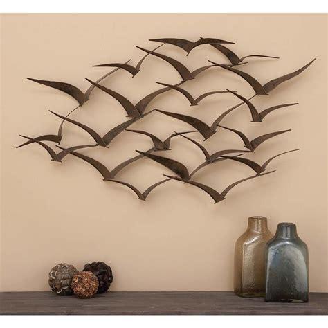 litton lane      brown iron flying birds wall