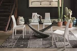 Glasplatte Für Küche : oval tisch mit glasplatte f r die moderne k che idfdesign ~ Michelbontemps.com Haus und Dekorationen