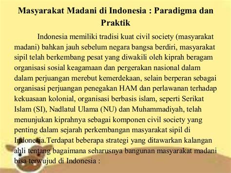 pengertian masyarakat madani civic society pkn