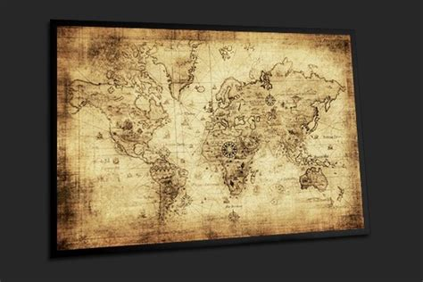 tableau d 233 coration murale carte du monde vintage sur fond home photo deco