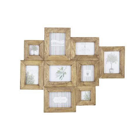cadre déco chambre bébé cadre photo multivues en manguier effet vieilli 69 x 84 cm