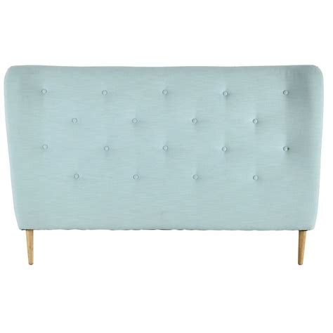 modele de chambre pour ado garcon tête de lit 160 capitonnée en tissu bleu turquoise iceberg