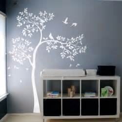 huge white tree wall decal vinyl sticker birds tree baby