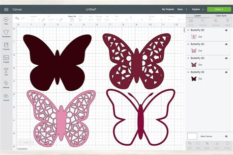 Each layer is separate and numbered for easy construction! 3d Mandala Butterfly svg - 4 Layered Mandala Butterfly ...