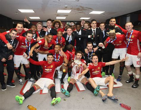 Behind-the-scenes pictures as Man United celebrate EFL Cup ...