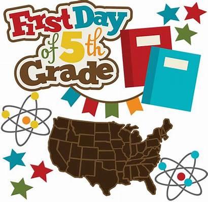 Grade 5th Clip Clipart Svg Days Scrapbooking