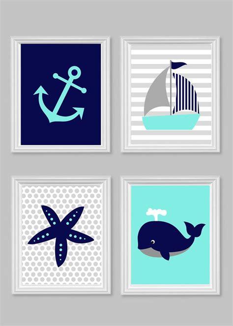 nautical nursery decor youngsters aqua grey navy gender