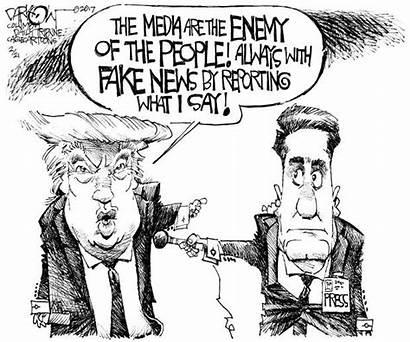 Trump Fake Cartoon Chump Enemy Darkow Press