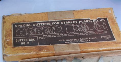 vintage tools stanley   partial special cutter set