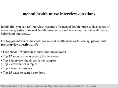 Questions And Answers For Mental Health Nurses by Mental Health Questions