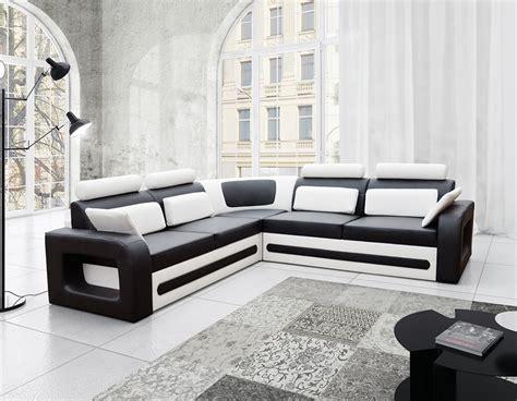 canapé d angle 5 places convertible canapé d angle convertible 5 places noir et blanc