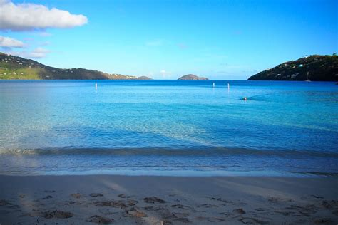 Starting The Day With A Swim Along Magens Bay St Thomas