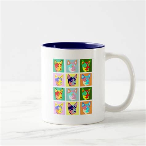 This may, we only do 9 pieces of this limited edition. Pop Art Australian Cattle Dog Two-Tone Coffee Mug | Zazzle.com