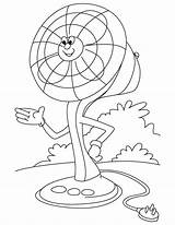 Fan Electric Coloring Pages Ceiling Clipart Cartoon Clip Table Printable Template Sketch Library Templates Getdrawings Getcolorings sketch template