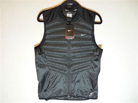 New Nike Aeroloft 800 Black Insulated Running Cycling Vest