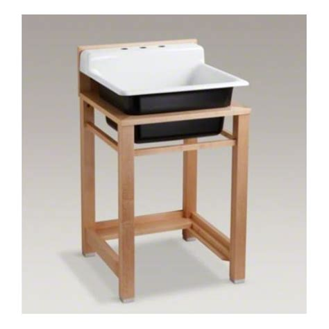 kohler bayview 25 5 quot x 24 quot single top mount utility sink with 3 faucet holes reviews wayfair