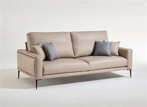 burov canapé grenelle canapé 2 places beige cuir burov decofinder