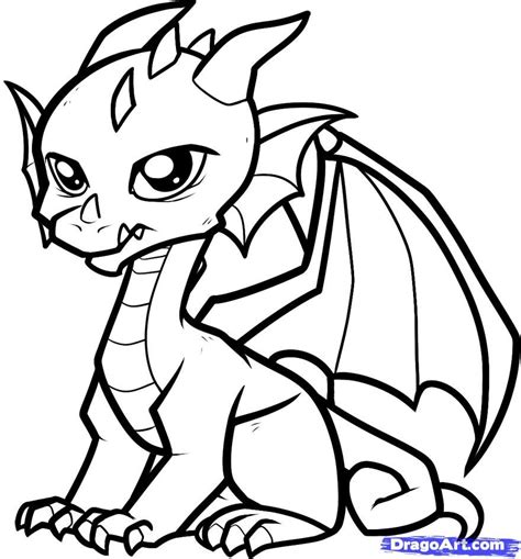 Cute Dragon Coloring Pages Printable Coloring Pages Cute
