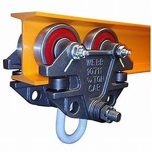 Jervis Webb Beam Trolley With Side Guide Rollers  Heavy