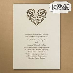 laser cut heart wedding invitations little flamingo With laser cut heart wedding invitations uk