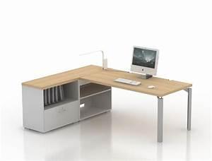 Meuble De Rangement Bas : bureau droit epure 140x80 avec meuble de rangement bas ~ Dailycaller-alerts.com Idées de Décoration