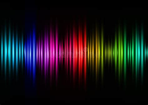 sound in color colorful sound waves vector design stock vector