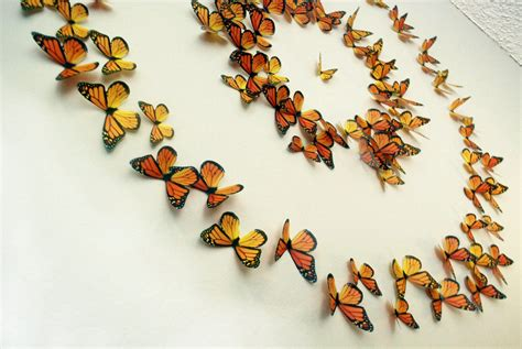 Diy butterfly wall decor can ad extra charm in your room. Monarch Butterflies 3D Wall Art Set of 100