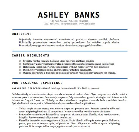 Standard Resume Template Word by Professional Resume Template Word 2011 Create A Resume