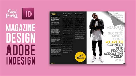 magazine layout  adobe indesign tutorial photoshop