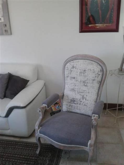 fauteuil style voltaire 224 cr 233 maill 232 re apres relooking