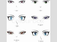 Anime Gesichter Vektorgrafik Colourbox