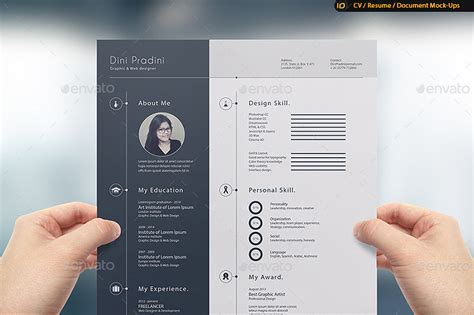 Mock Up Resumes by Cv Resume Mock Up By Idsains Graphicriver