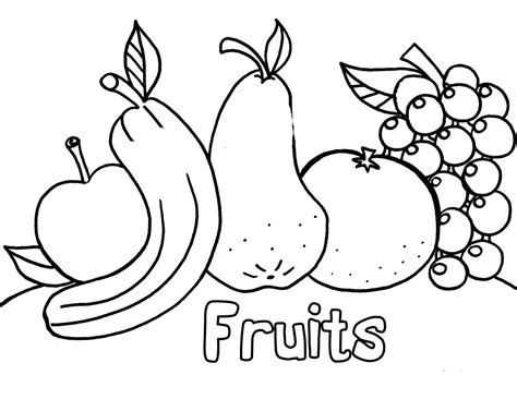coloring pages  fresh fruit  vegetables minister