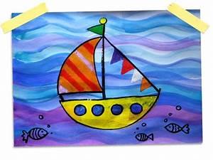 Basteln Sommer Grundschule : schiff wachs und wassermalfarben kunst malen basteln und kunstunterricht ~ Frokenaadalensverden.com Haus und Dekorationen