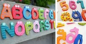 educational large wooden magnetic letters numbers With large magnetic letters for signs