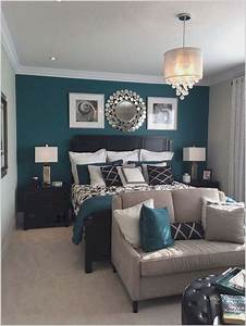 Teal, And, Gray, Bedroom, Decor, Ideas