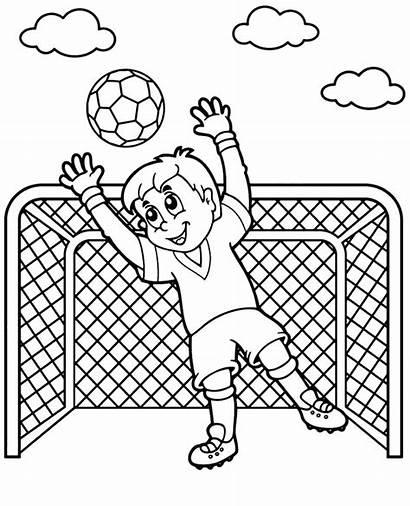 Coloring Soccer Football Goalkeeper Kolorowanka Bramkarz Dzieci