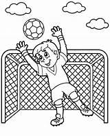 Coloring Soccer Football Goalkeeper Kolorowanka Bramkarz Dzieci Pilkarski Dla Topcoloringpages Kolorowanki Visit sketch template