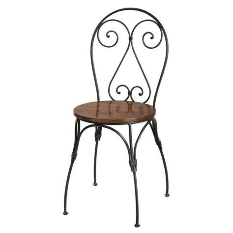chaise cœur en bois de sheesham massif et fer forg 233 luberon maisons du monde