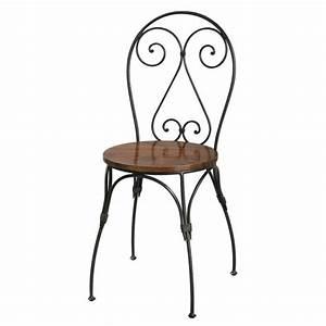 Chaise En Fer Forgé : chaise c ur en bois de sheesham massif et fer forg ~ Dode.kayakingforconservation.com Idées de Décoration