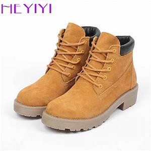 HEYIYI Women Boots Winter Martin Short Boots Cow Suede ...