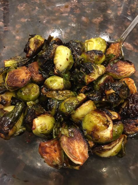 brussels balsamic sprouts fryer roasted air